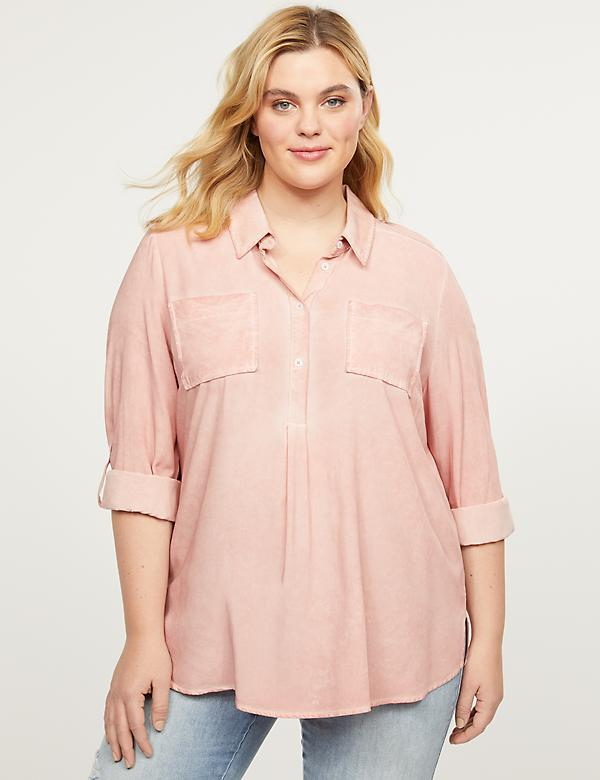 Washed Popover Top