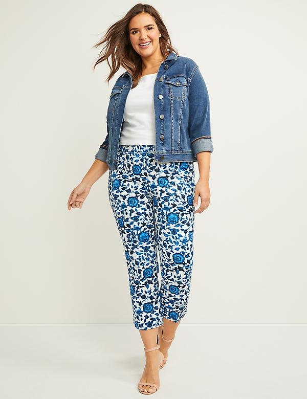Allie Smart Stretch Crop Pant - Print