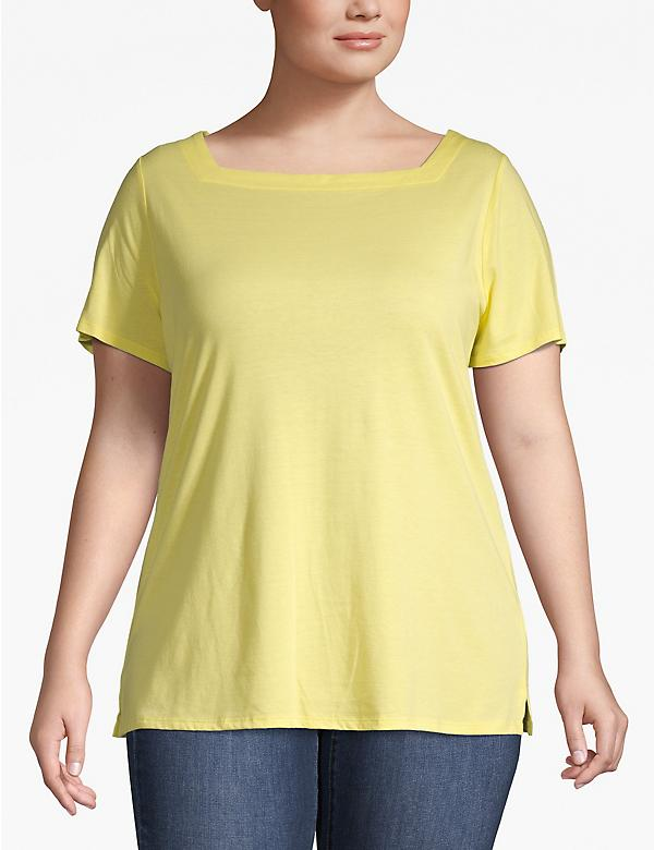 Square-Neck Short-Sleeve Tee