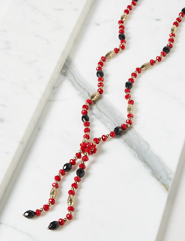 Beaded Y-Necklace