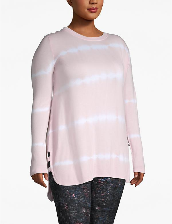 Active Tie-Dye Stripe Hooded Tunic
