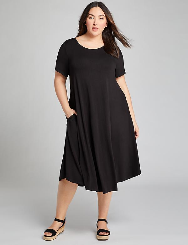 High-Low Swing Dress