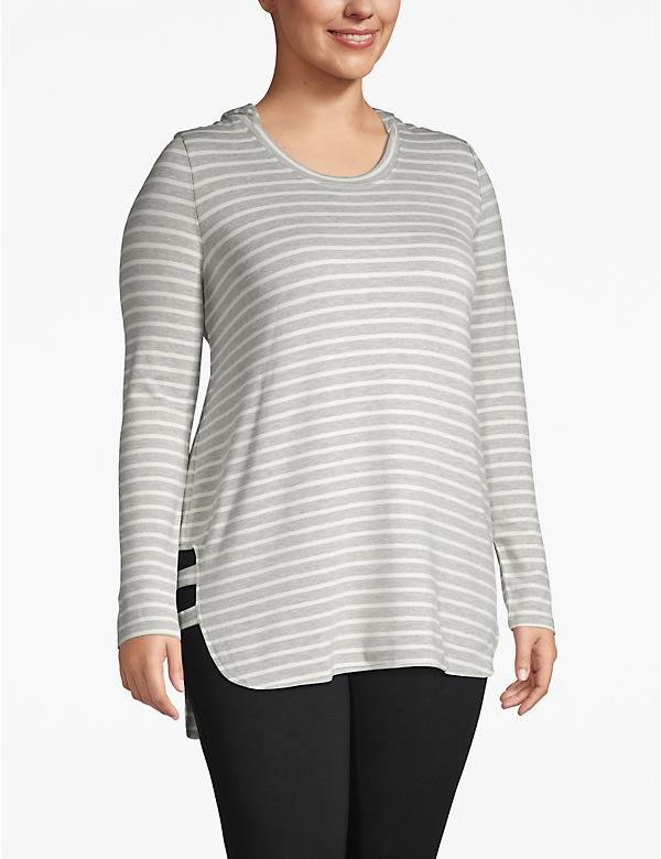 Active Striped Hooded Tunic