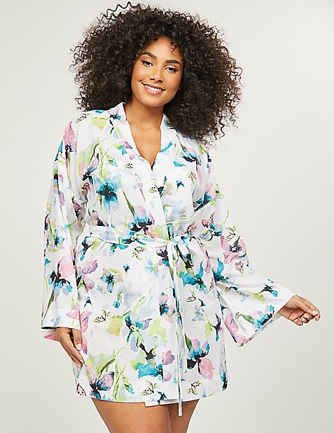 Butterfly Floral Robe