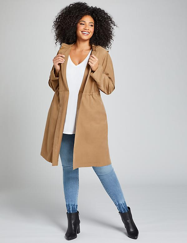 Soft Twill Trench Overpiece