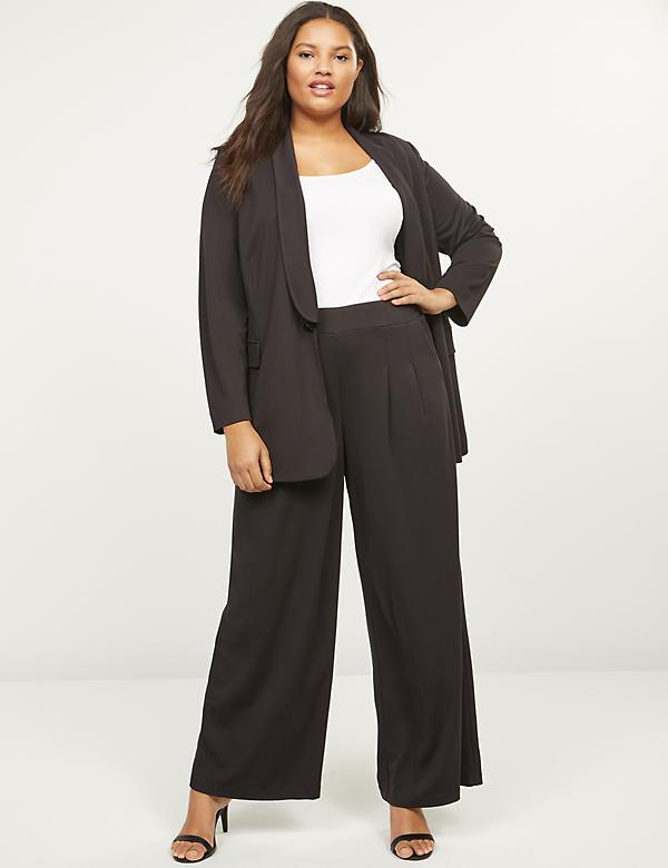 Ponte Pull-On Wide Leg Pant