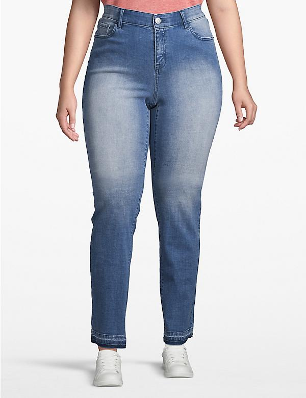 Venezia Straight Jean - Light Wash With Release Hem