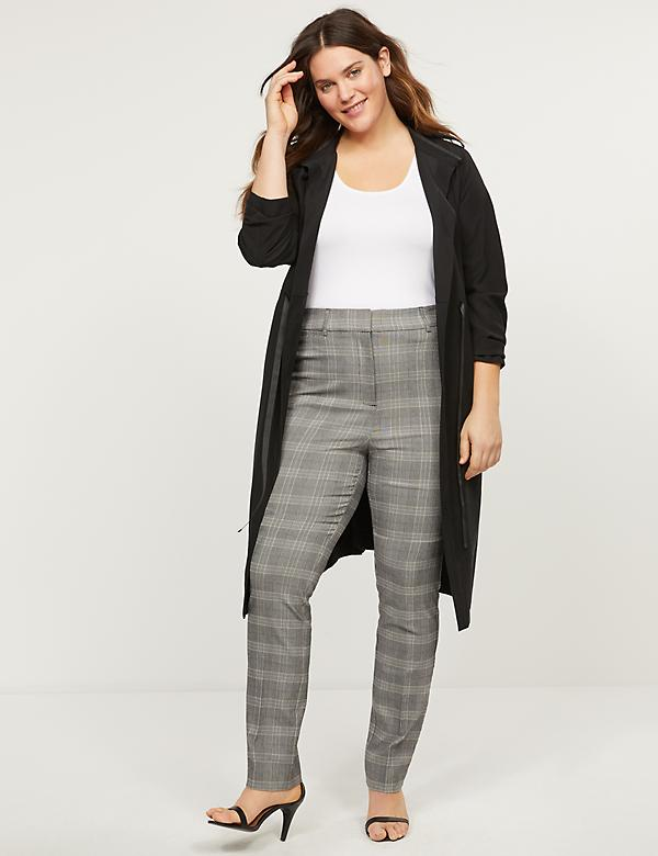Power Pockets High-Rise Sexy Stretch Straight Pant - Plaid