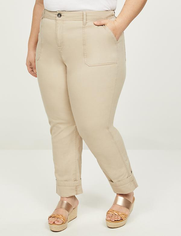 High-Rise Straight Cargo Pant