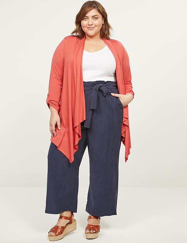 Soft Ankle Pant With Belt