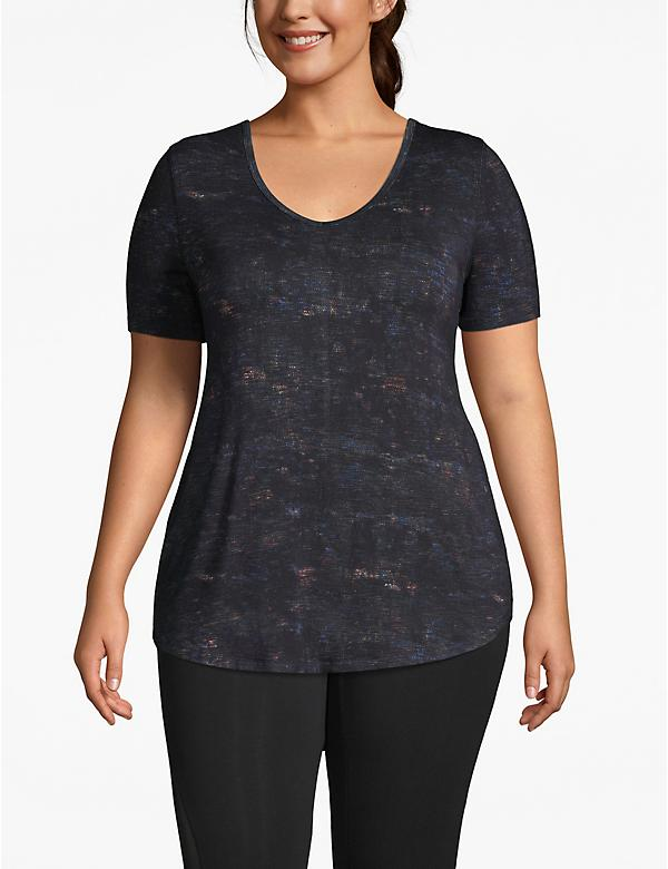 Active Textured Print Strappy-Back Tee