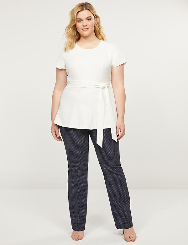 Curvy Allie Sexy Stretch Boot Pant - Pin Dot