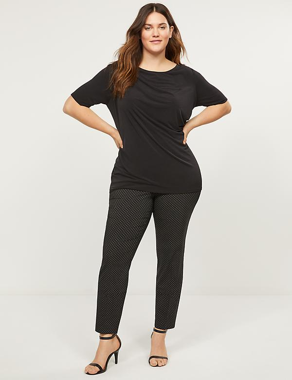 Power Pockets Allie Ankle Pant - Square Dot