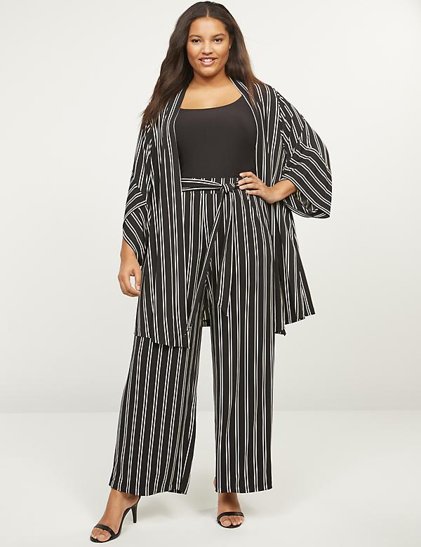 Matte Jersey Wide Leg Pull-On Pants