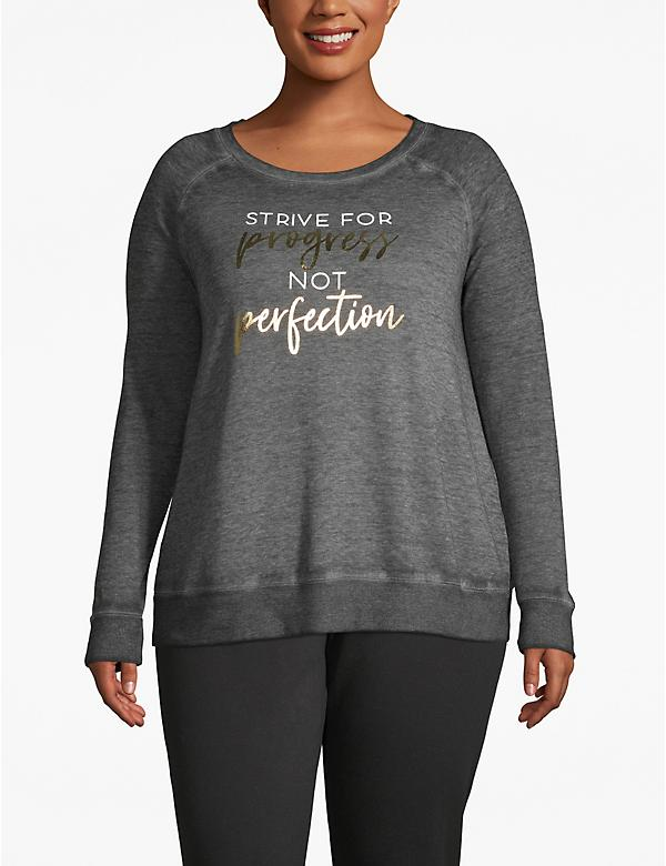 Active Progress Not Perfection Foil Graphic Sweatshirt