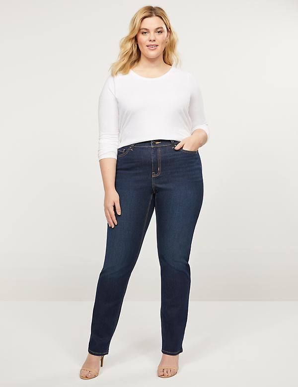 Curvy Fit High-Rise Straight Jean - Dark Wash