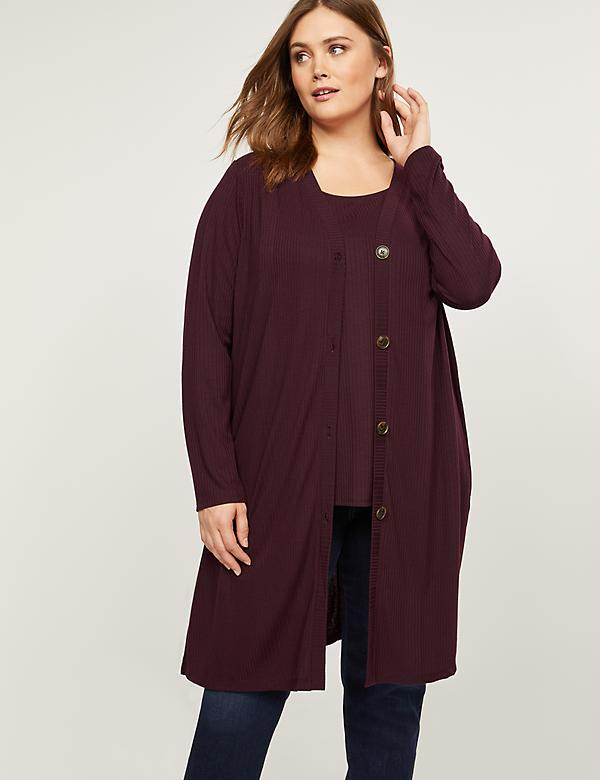 Ribbed Duster Overpiece
