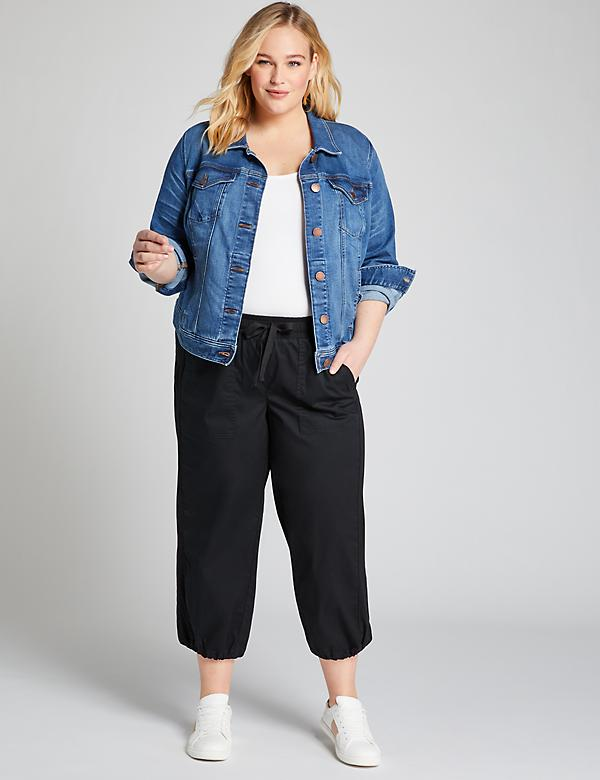 Pull-On Soft Crop Pant