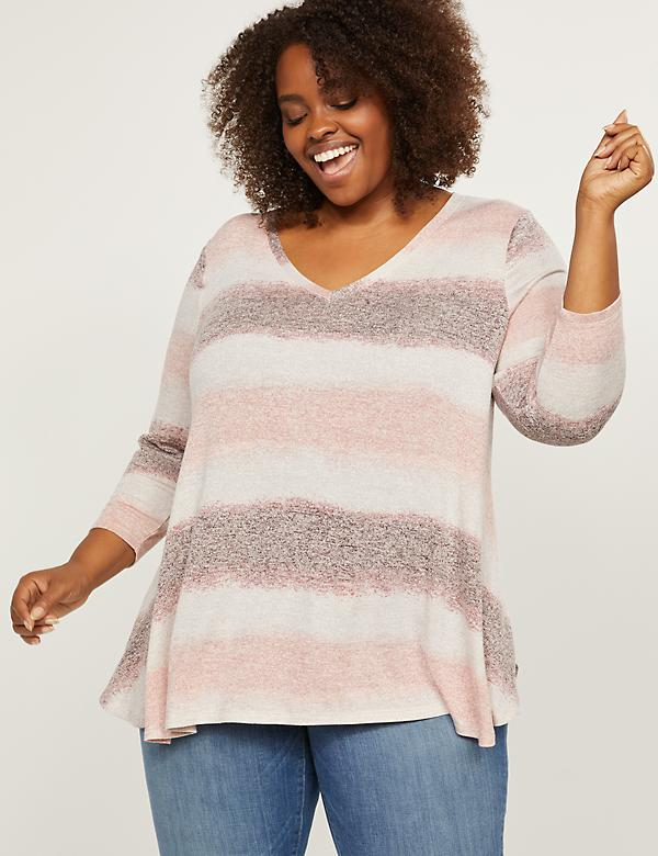 Softest Touch Striped Swing Top