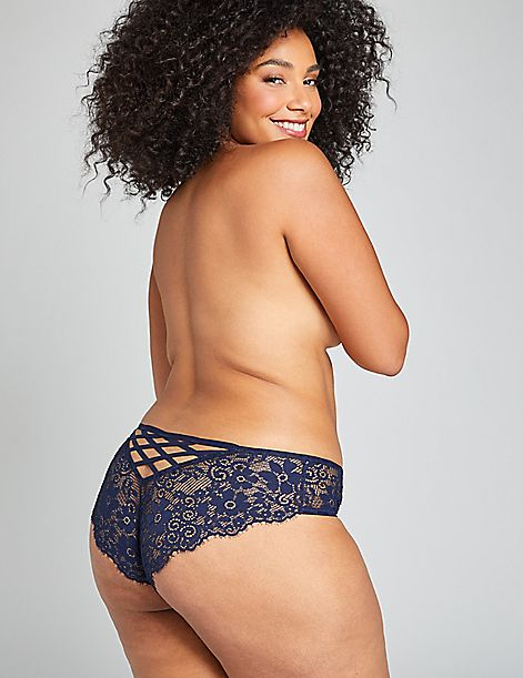 Floral Lace-Back Cheeky Panty