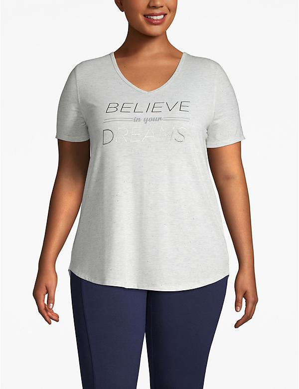Active Believe in Your Dreams Strappy-Back Tee