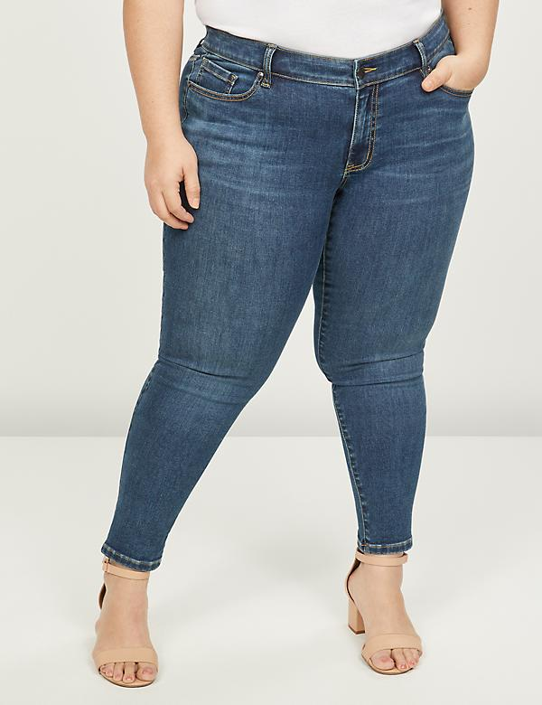 Deluxe Fit Low-Rise Skinny Jean - Medium Wash