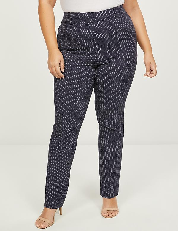 Power Pockets High-Rise Sexy Stretch Straight Pant - Dots