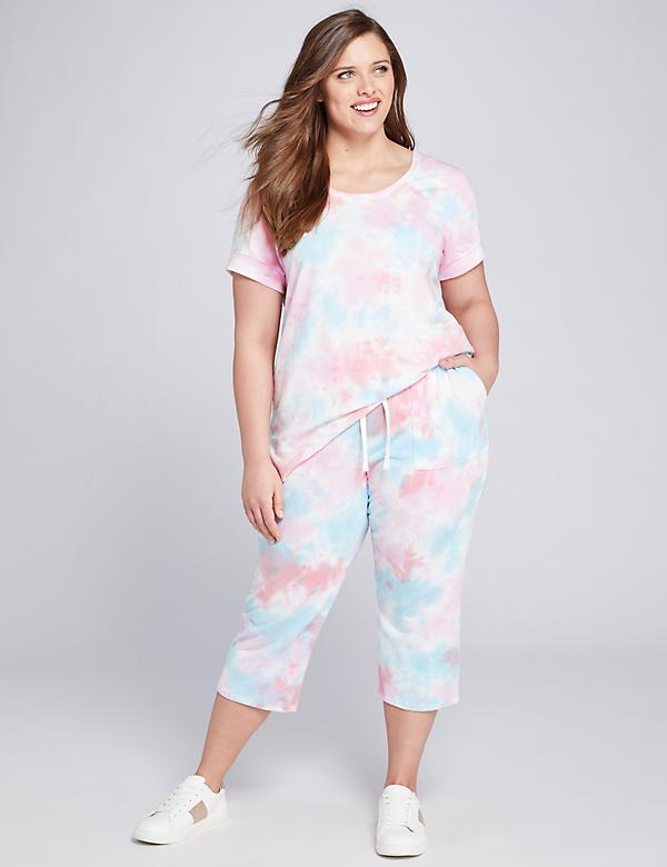 LIVI French Terry Crop Pant - Tie-Dye