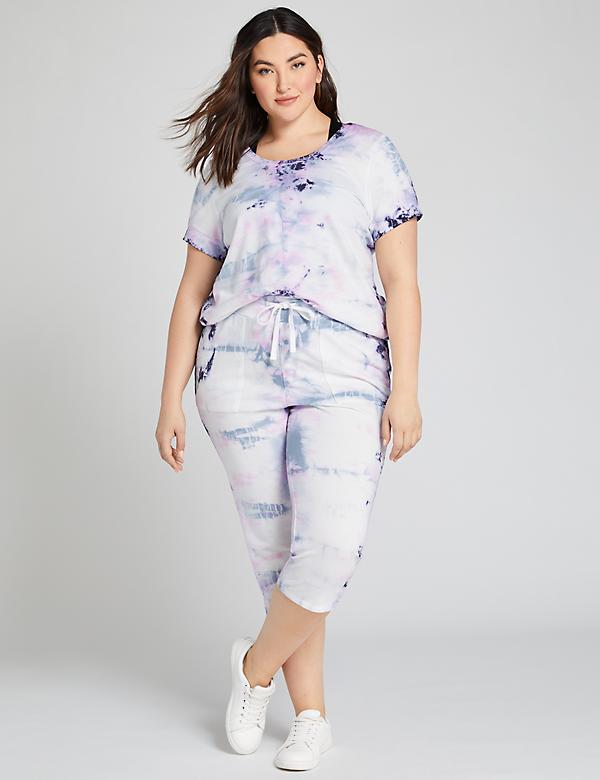 LIVI Crop Pant - Tie-Dye French Terry