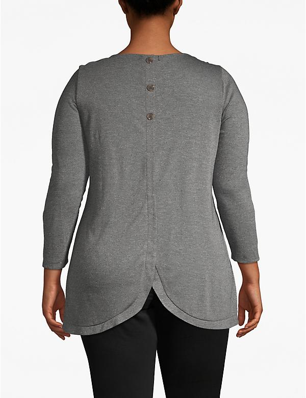 Textured Button-Back Tee