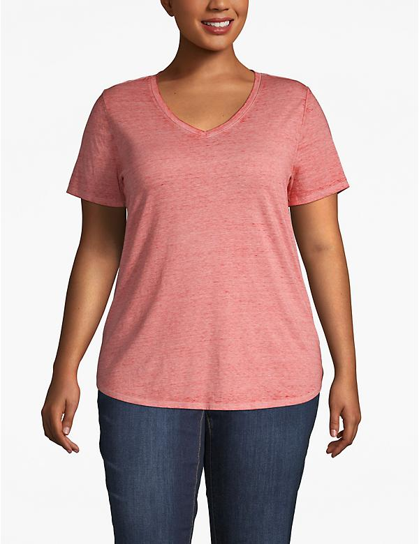 Heathered High-Low Tee
