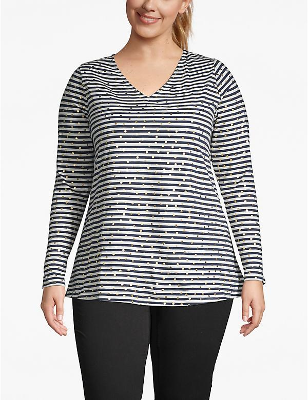 Foil Dot Striped Tee