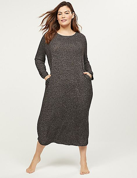Brushed Jersey Long Sleepshirt