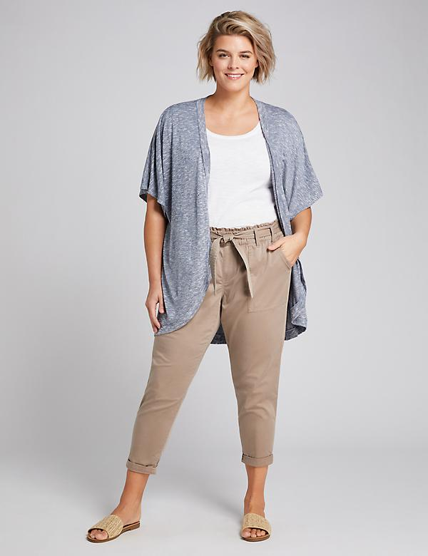 Pull-On Belted Cargo Crop Pant