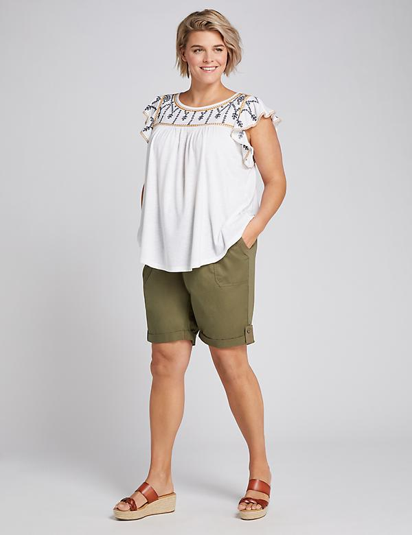 Pull-On Bermuda Short