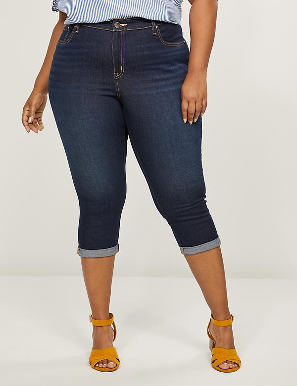 Signature Fit Pedal Jean - Dark Wash