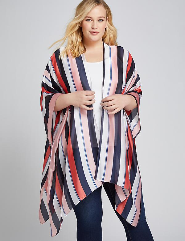 Multi-Striped Overpiece