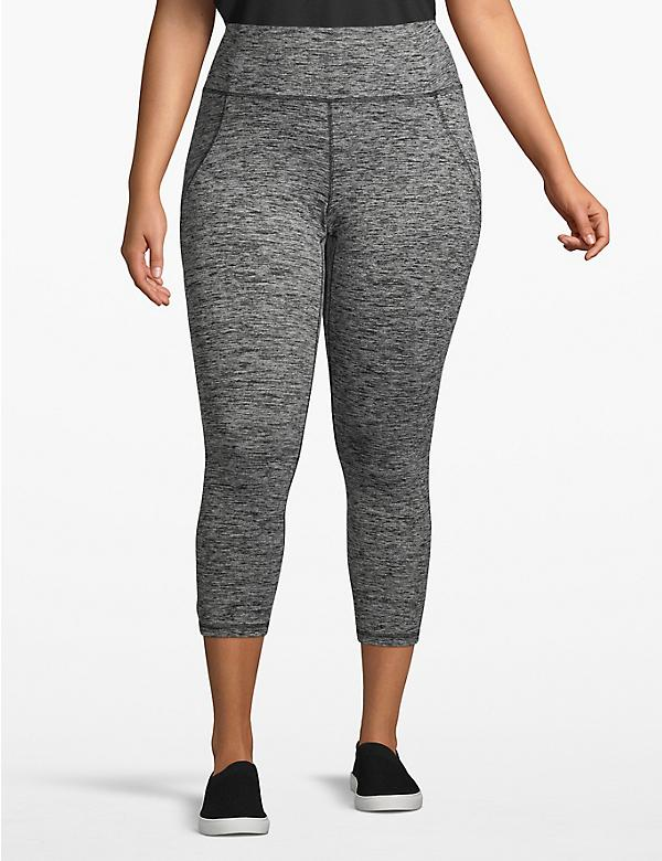 Active Spacedye Capri Legging - Crisscross Back