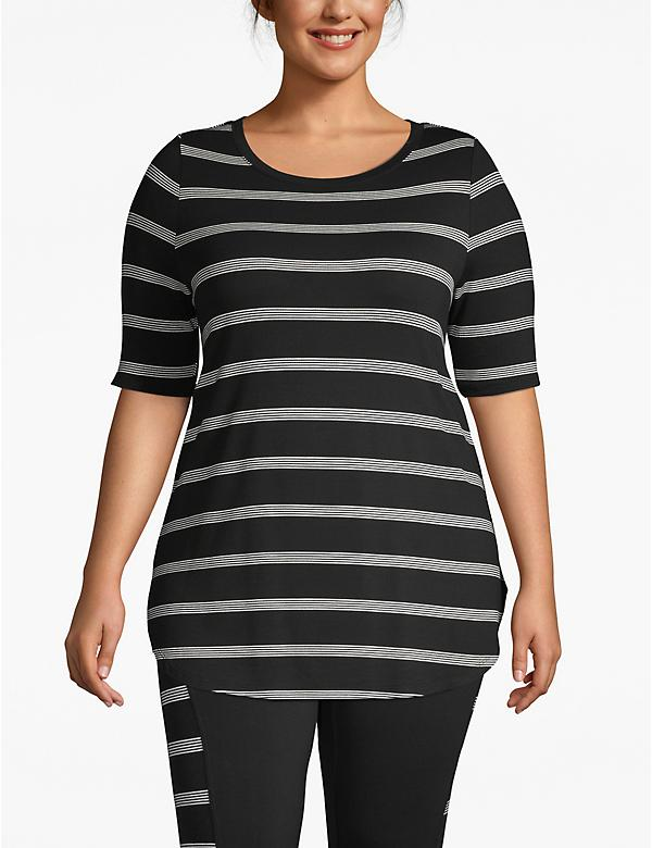 Active Striped High-Low Tunic
