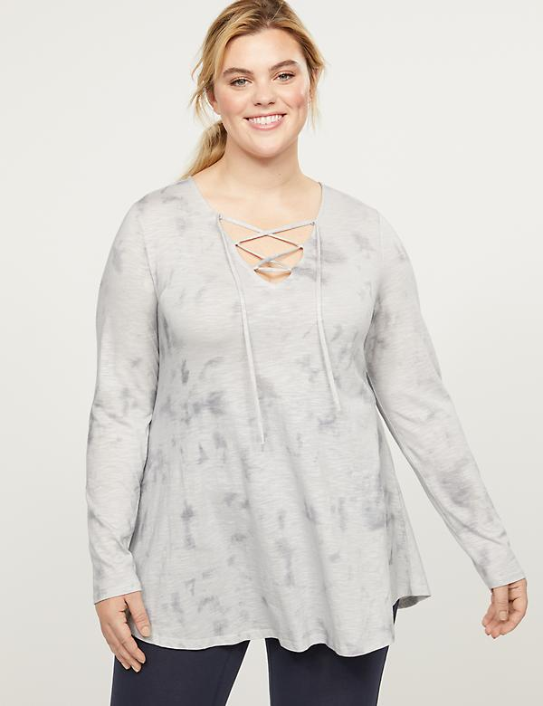 LIVI Top - Tie-Dye With Lace-Up