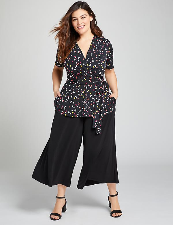 Knit Kit Pull-On Wide Leg Crop Pant