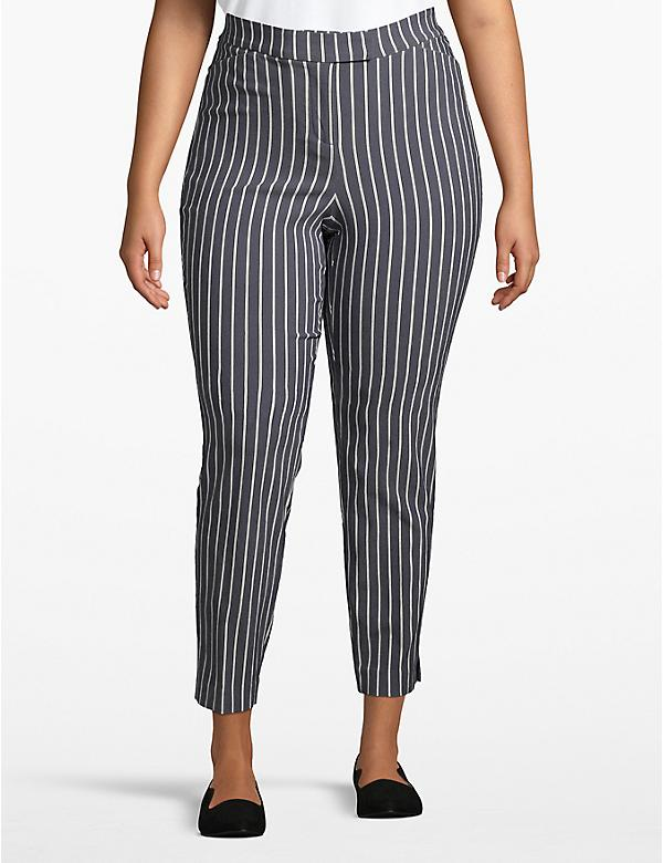 Madison Ankle Pant - Multitone Pinstripe