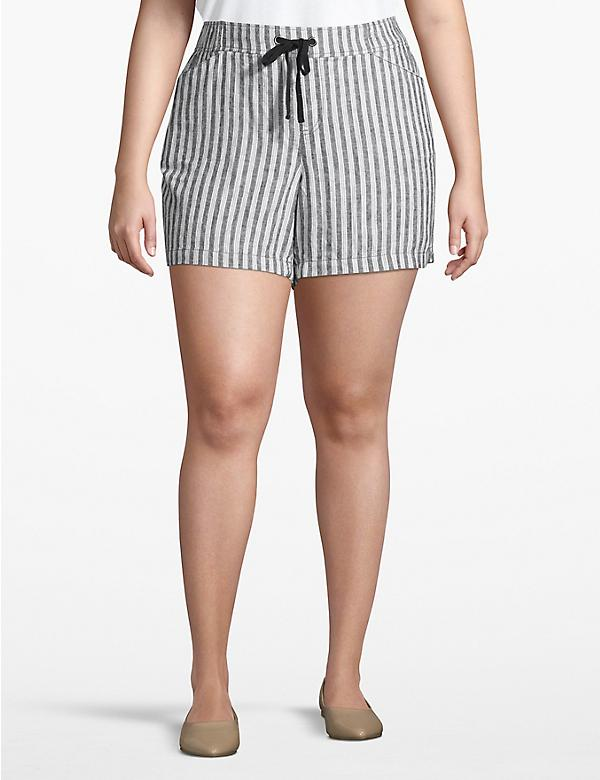 Effortless Chic Drawstring Pull-On Short