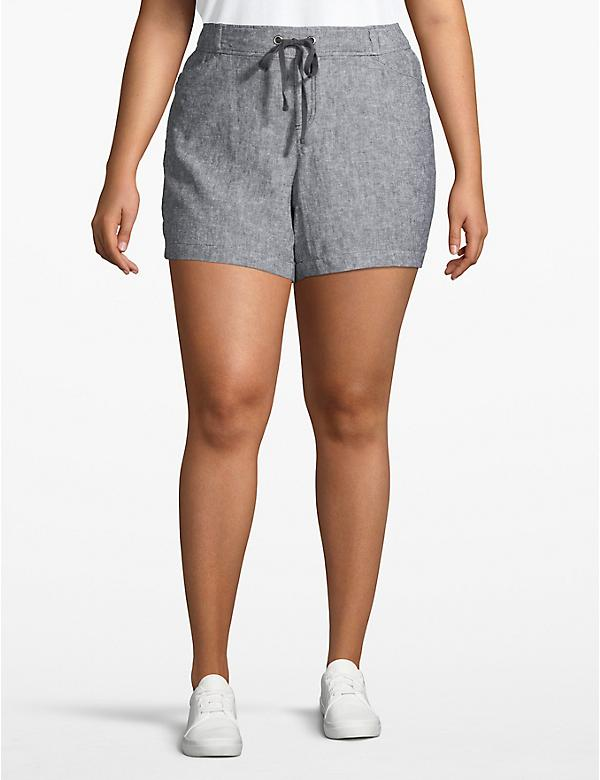 Effortless Chic Drawstring Pull-On Short - Textured