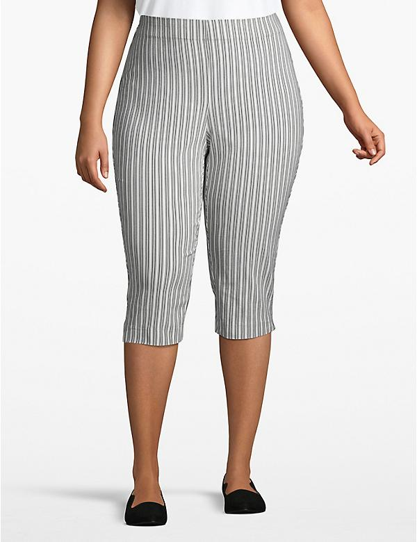 Striped Pull-On Pedal Pant