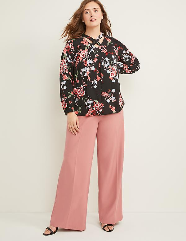 Allie Tailored Stretch Wide Leg Pant