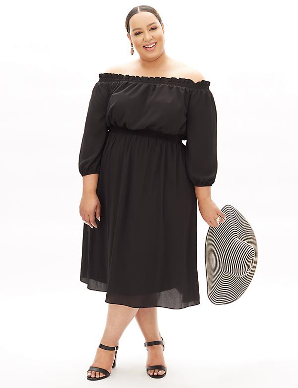 Off-The-Shoulder Beauticurve Midi Dress