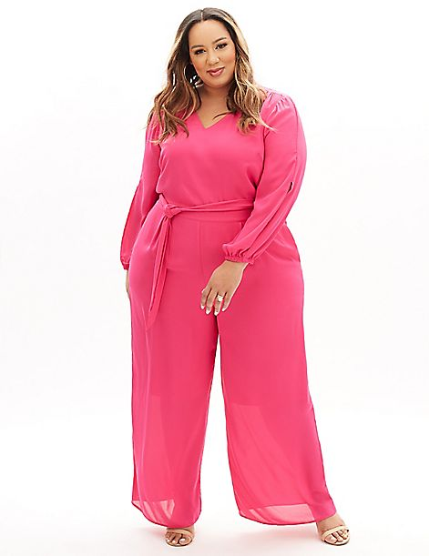 Beauticurve Belted Ankle Jumpsuit