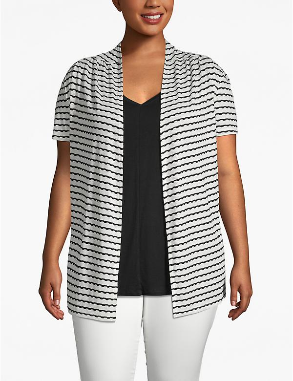 Striped Short Sleeve Overpiece