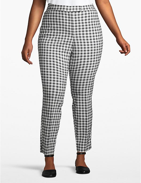 Madison Ankle Pant - Gingham